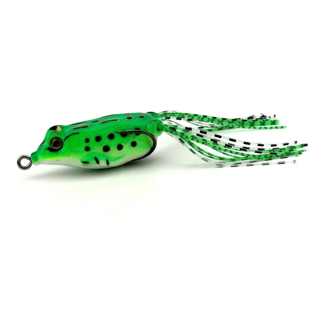Lot  5  leurres  grenouille de pêche  5.5cm     8g