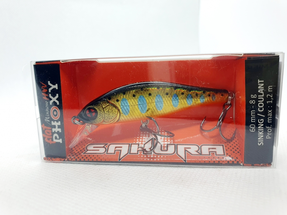 Sakura Flat phoxy minnow HW 60 mm
