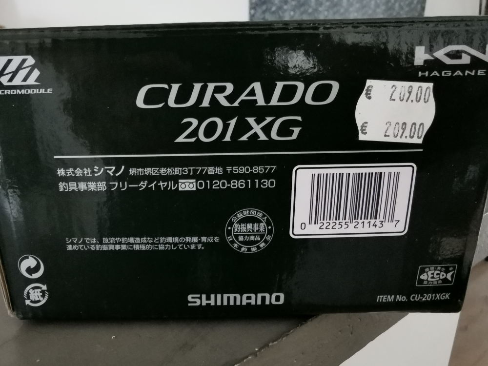 Shimano curado 201 XG