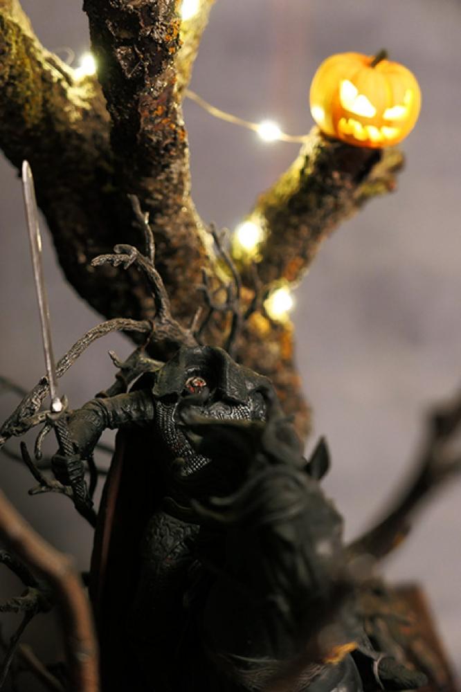 "Installation Lumineuse - \""Sleepy Hollow\"" Hommage à Tim Burton"