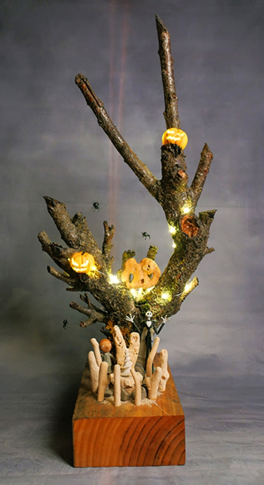 "Installation Lumineuse - \""The Nightmare Before Christmas\"" Hommage à Tim Burton"