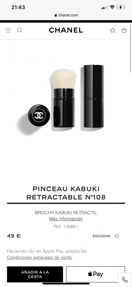Chanel brocha Kabuki
