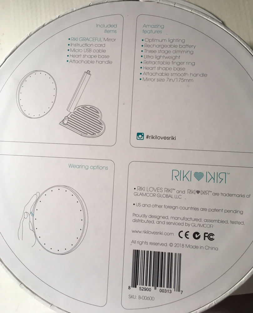 Espejo Led Glamcor Riki Graceful - Envio Certificado Incluido