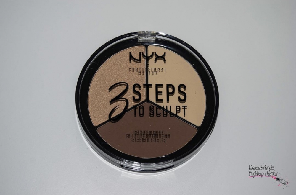 Paleta de contorno 3 Steps To Sculpt de Nyx