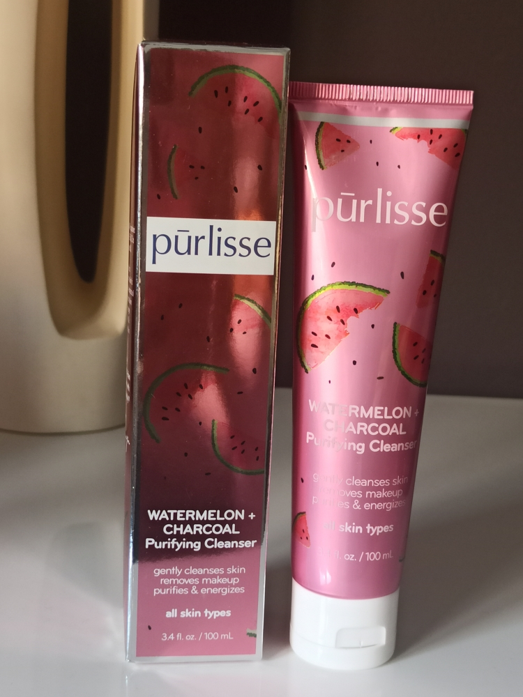 Purlisse Watermelon Charcoal Cleansing Gel