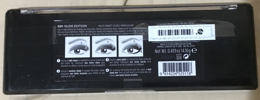Paleta de ojos Magnif'eyes Nude Edition Rimmel London
