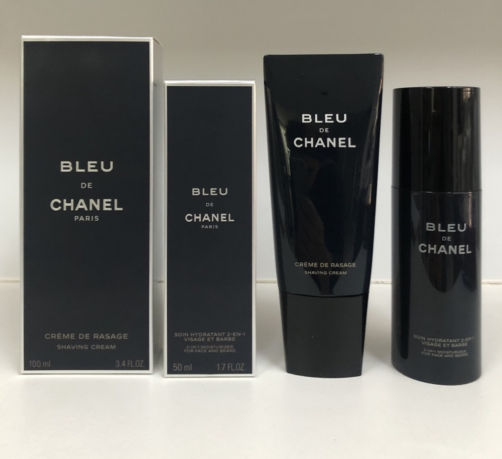 Shaving cream Bleu de Chanel + Moisturizer for face and beard Bleu de Chanel