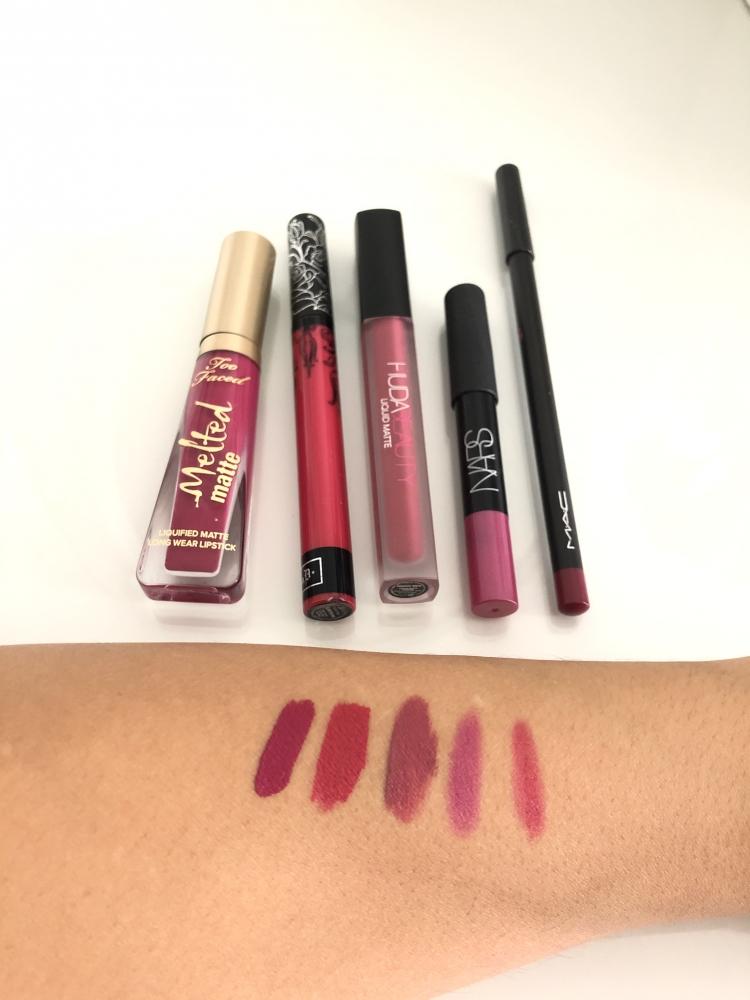 Mix labiales de marca en tonos rosados