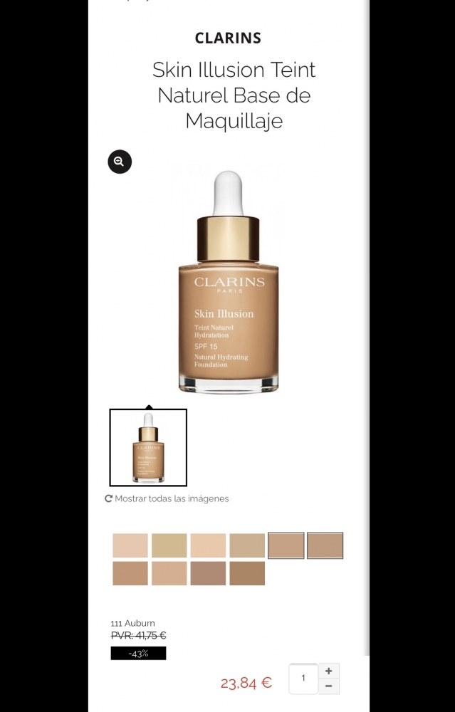 Base Clarins Skin Illusion