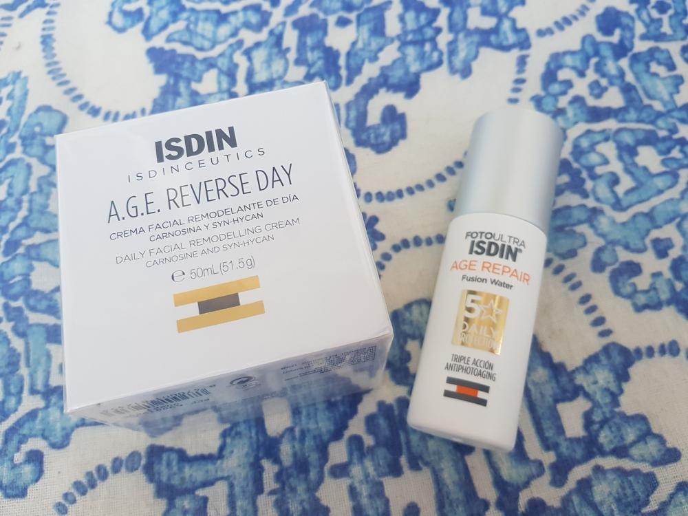 Pack Isdin: Crema facial precintada de día y Protector solar Fusión Water Age Repair