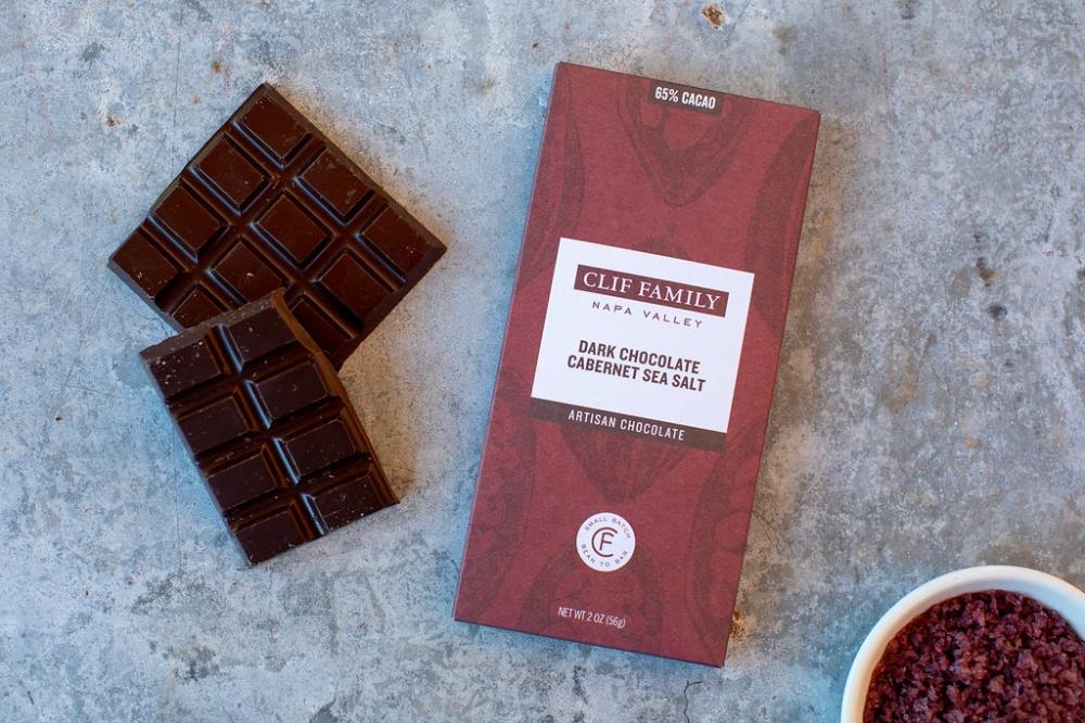 Dark Chocolate Cabernet Sea Salt 2oz Bar (Case 12)