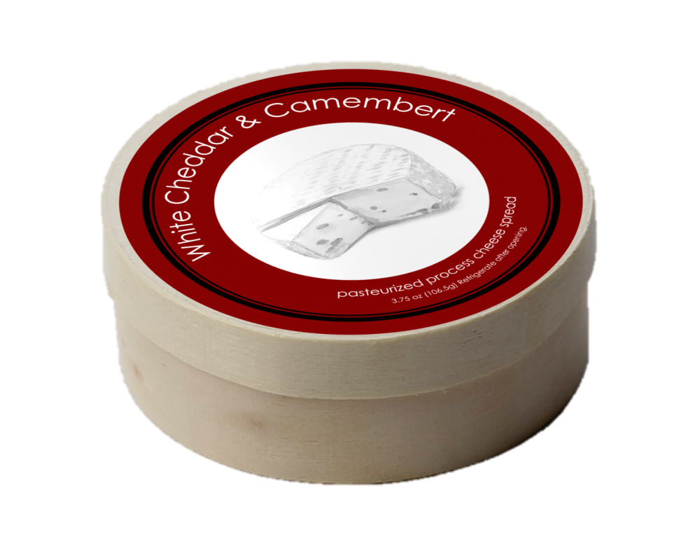 Camembert Cheese Spread In Wooden Hoop