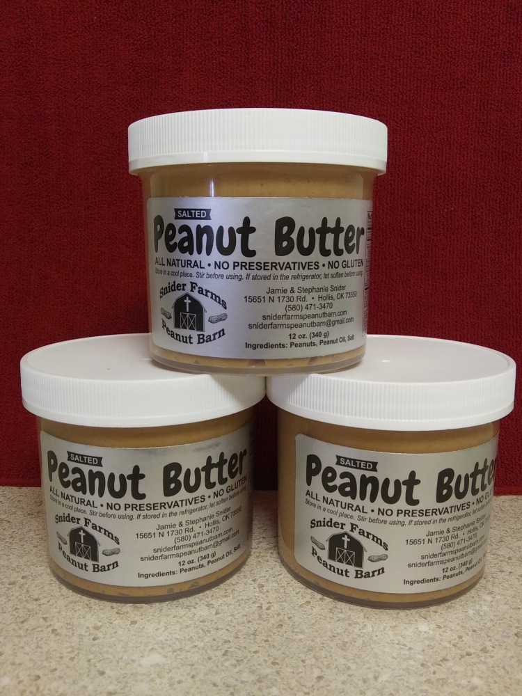 Salted Peanut Butter, 12 oz jars, 9 jars per case