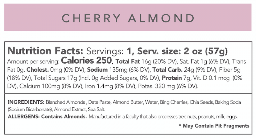 Cherry Almond Cookie (Case of 12)