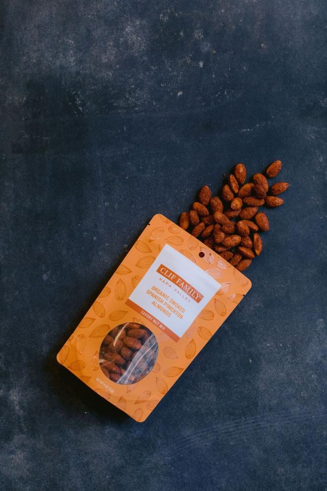 Organic Smoked Spanish Pimenton Almonds 4oz (Case 12)