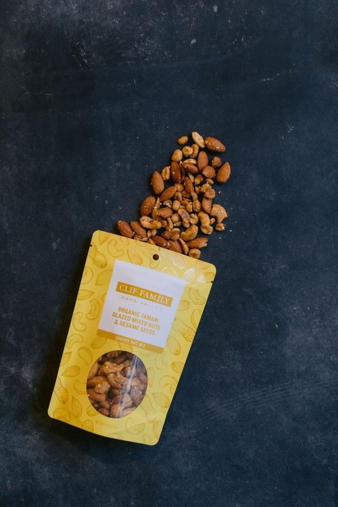 Organic Tamari Glazed Mixed Nuts & Toasted Sesame 4oz (Case 12)