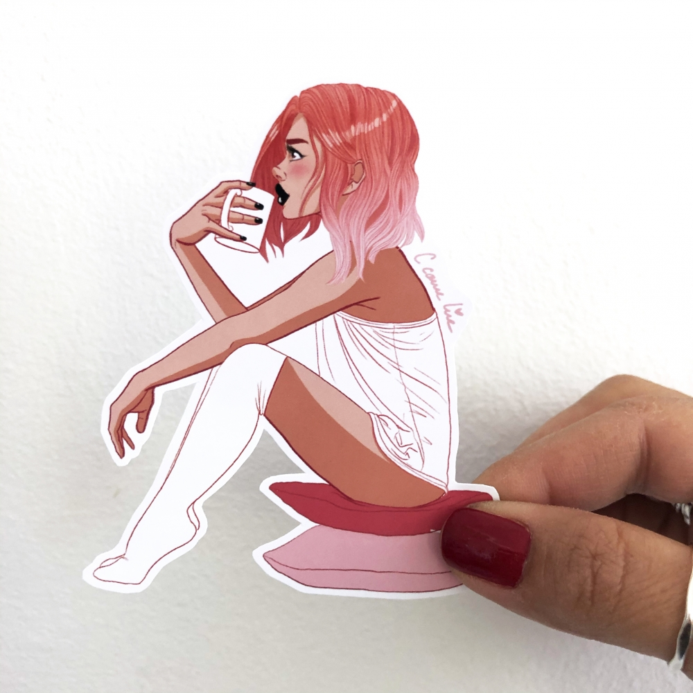Sticker PINK COFFEE