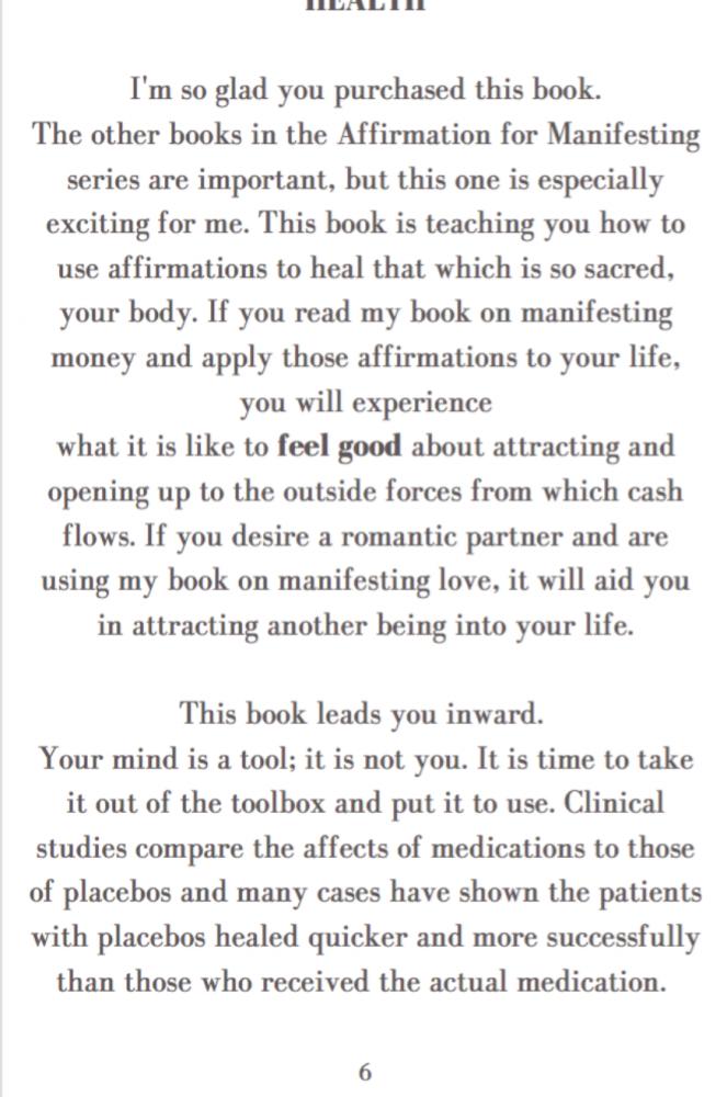 Affirmations for Manifesting Health
