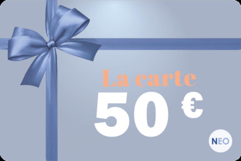 La carte cadeau de 50 euros