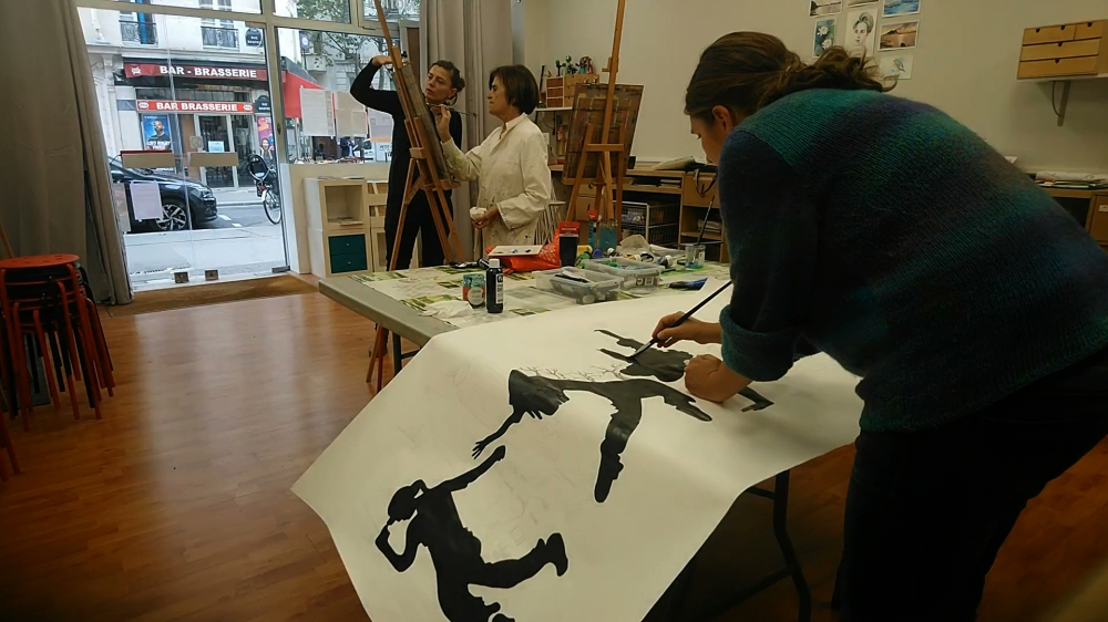 Cours d'essai de Peinture à l'atelier L'oiseau Rouge - Paris 11e