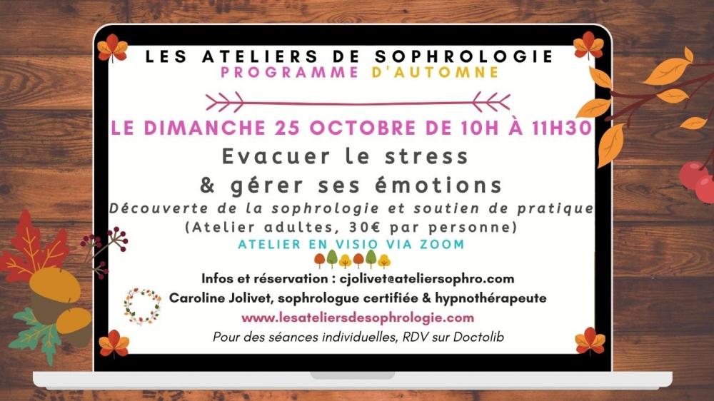 Atelier de sophrologie - En Ligne
