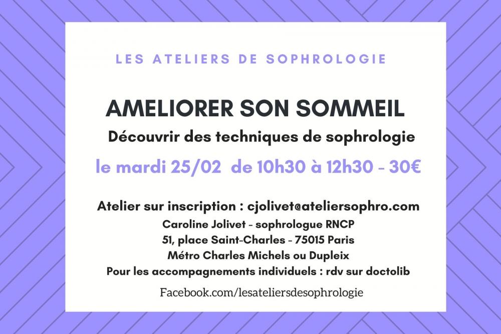 Atelier de sophrologie : Améliorer votre sommeil - Paris 15e