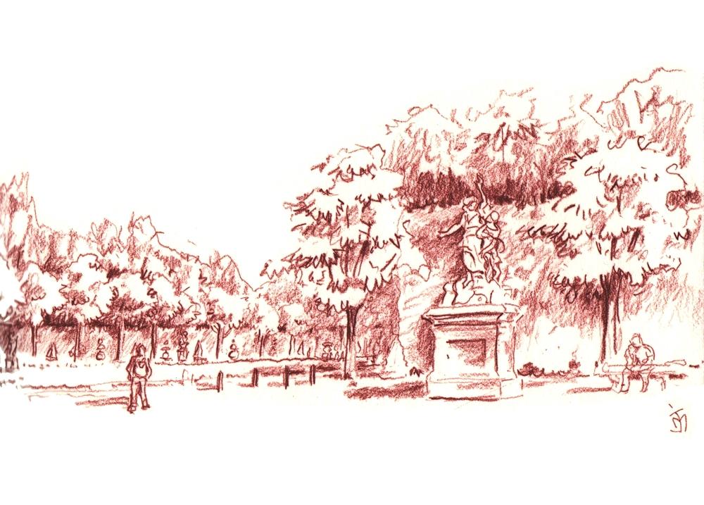 2 jours de croquis dans le parc de Versailles