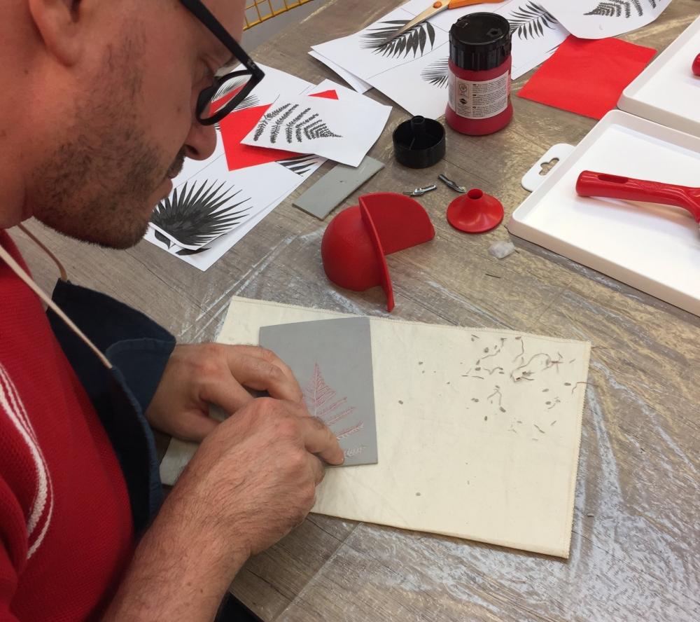 Initiation à la linogravure à Lyon