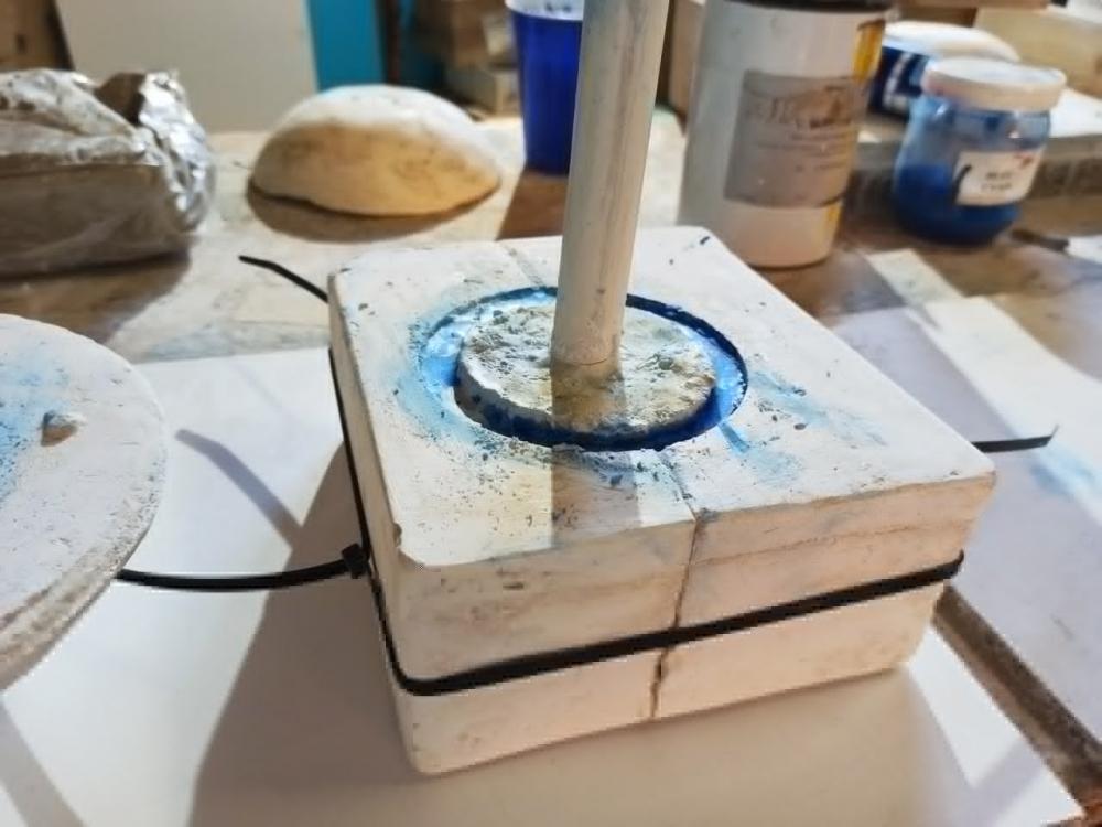 Création d'objets en béton coloré