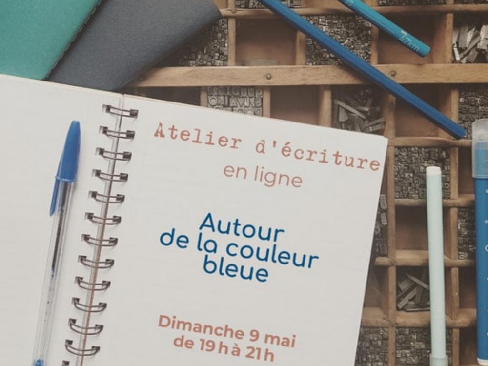 Atelier d'écriture autour de la couleur bleue