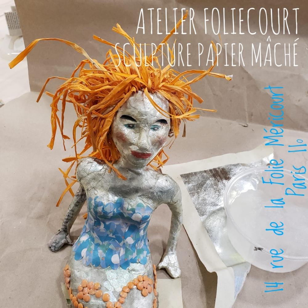 Sculpture papier mâché - Paris 11ème