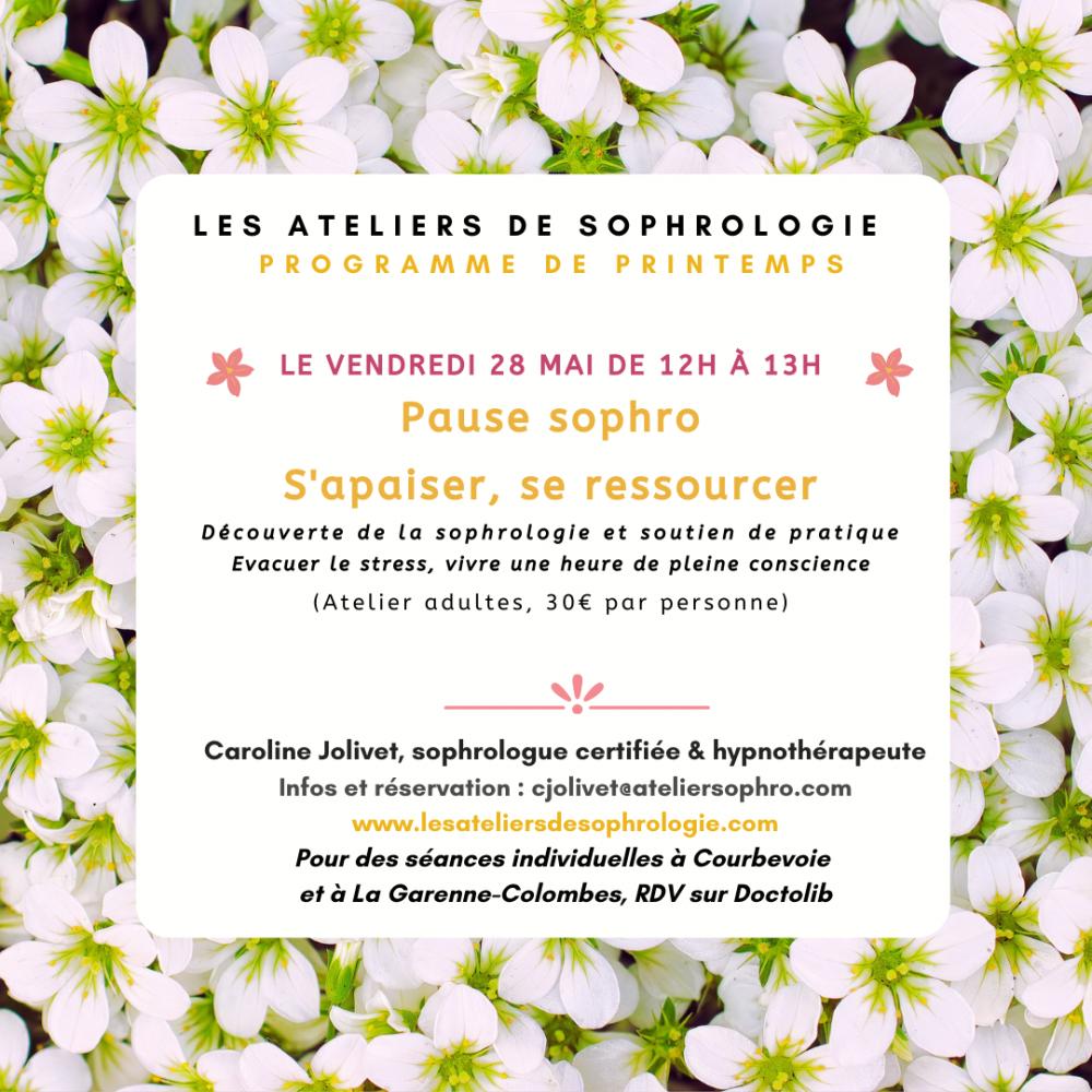 Atelier De Sophrologie : S'apaiser, Se Ressourcer