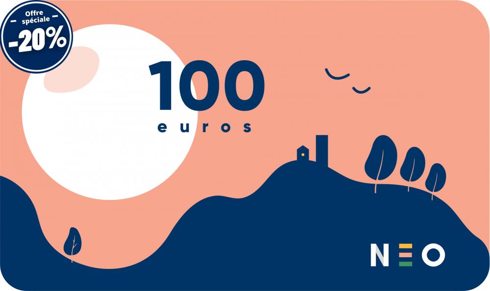 La carte cadeau de 100 euros