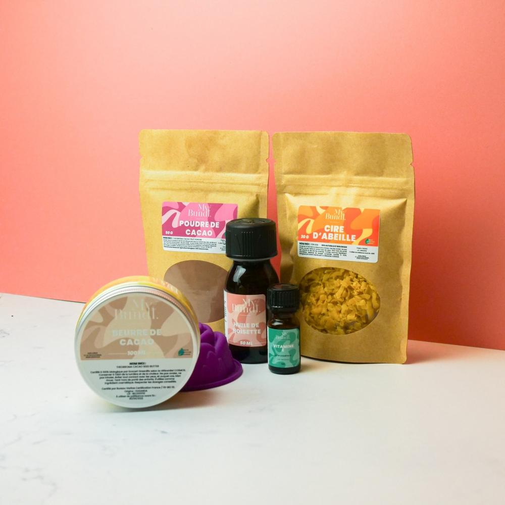 Kit cosmétique maison - Barre de massage chocolat