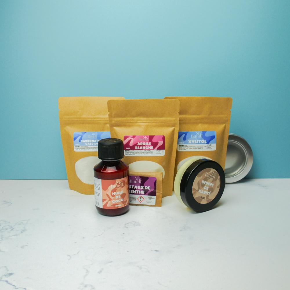 Kit cosmétique maison - dentifrice