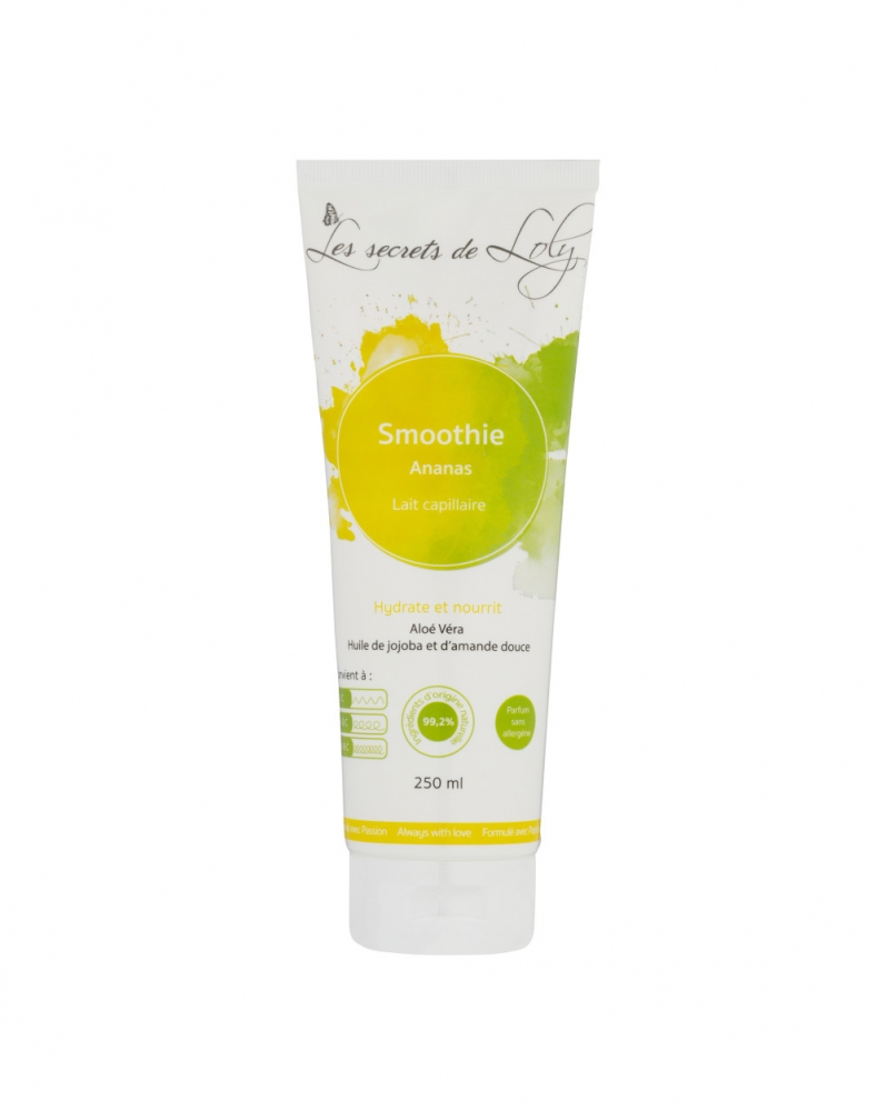 Les Secrets de Loly Lait capillaire Smoothie Ananas  Tube de 250ML