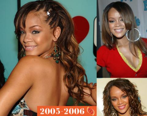 zawema cheveux Rihanna 2005