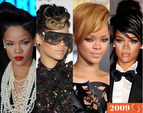 zawema Rihanna cheveux 2009