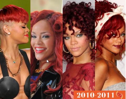 zawema Rihanna cheveux 2010