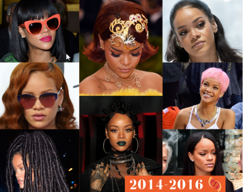 zawema Rihanna cheveux 2014