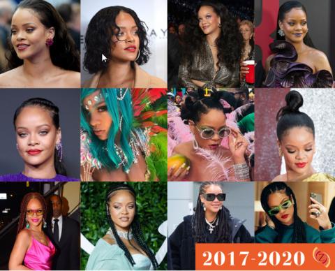 zawema Rihanna cheveux 2017