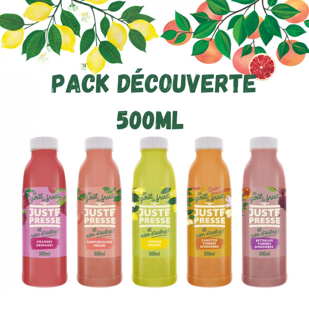 Pack découverte 500ml : Une bouteille de chaque + une orange grenade !