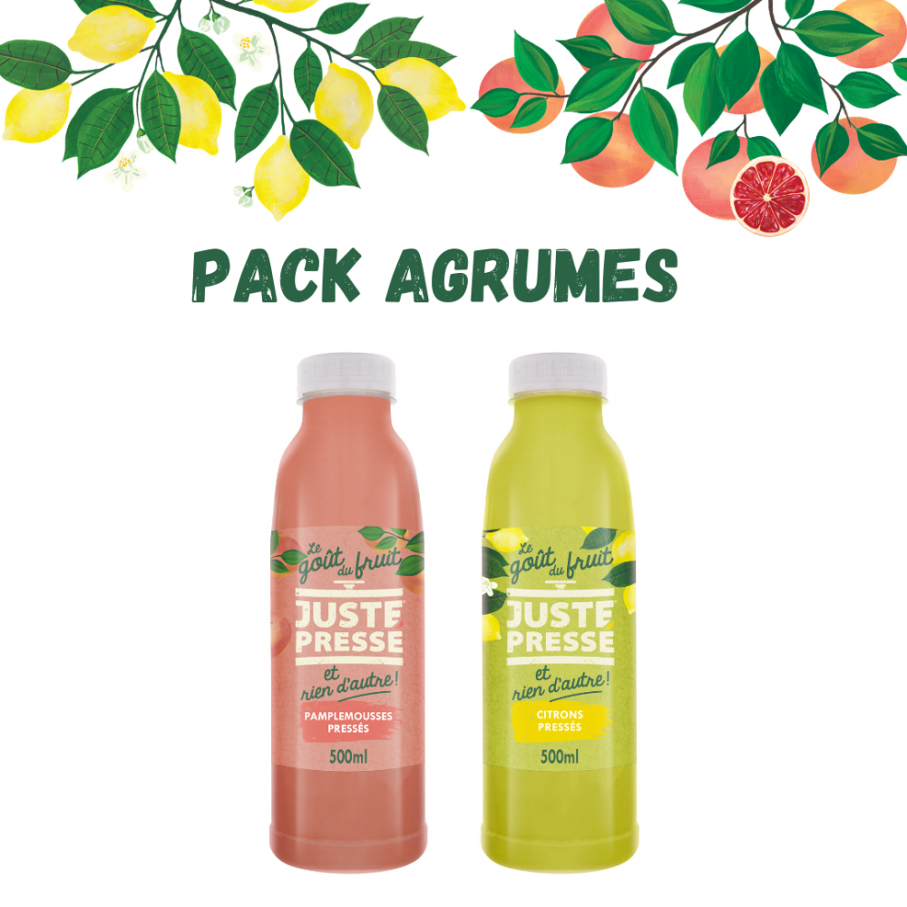Pack agrumes 500ml : 3 pamplemousses + 3 citrons