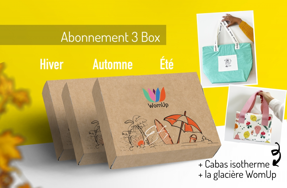 Abonnement +le sac ISOTHERME et la glacière WomUp