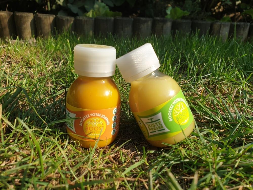 BOOST Curcuma-poivre : 12 bouteilles de 60ml - Juste Pressé