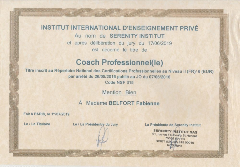 Coaching  Individuel (durée 1h)