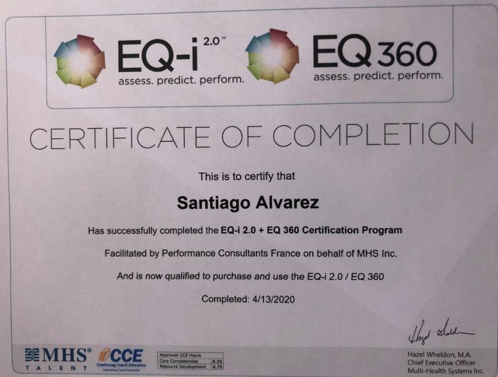 Intelligence Emotionnelle : évaluez votre QE (quotient émotionnel) avec le test EQi-2.0 +  débriefing (1h30)