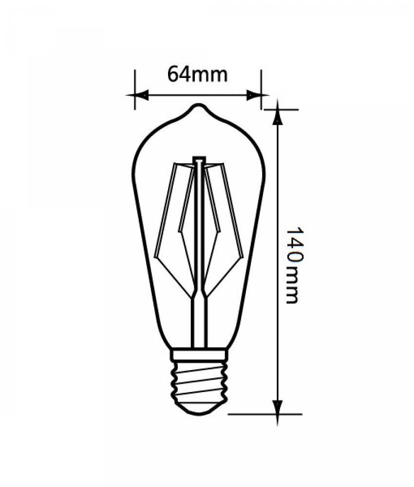 LED Filament Pear Shape ES 2700K Dimmable Lamp - CF28DIM - *Pack of 10