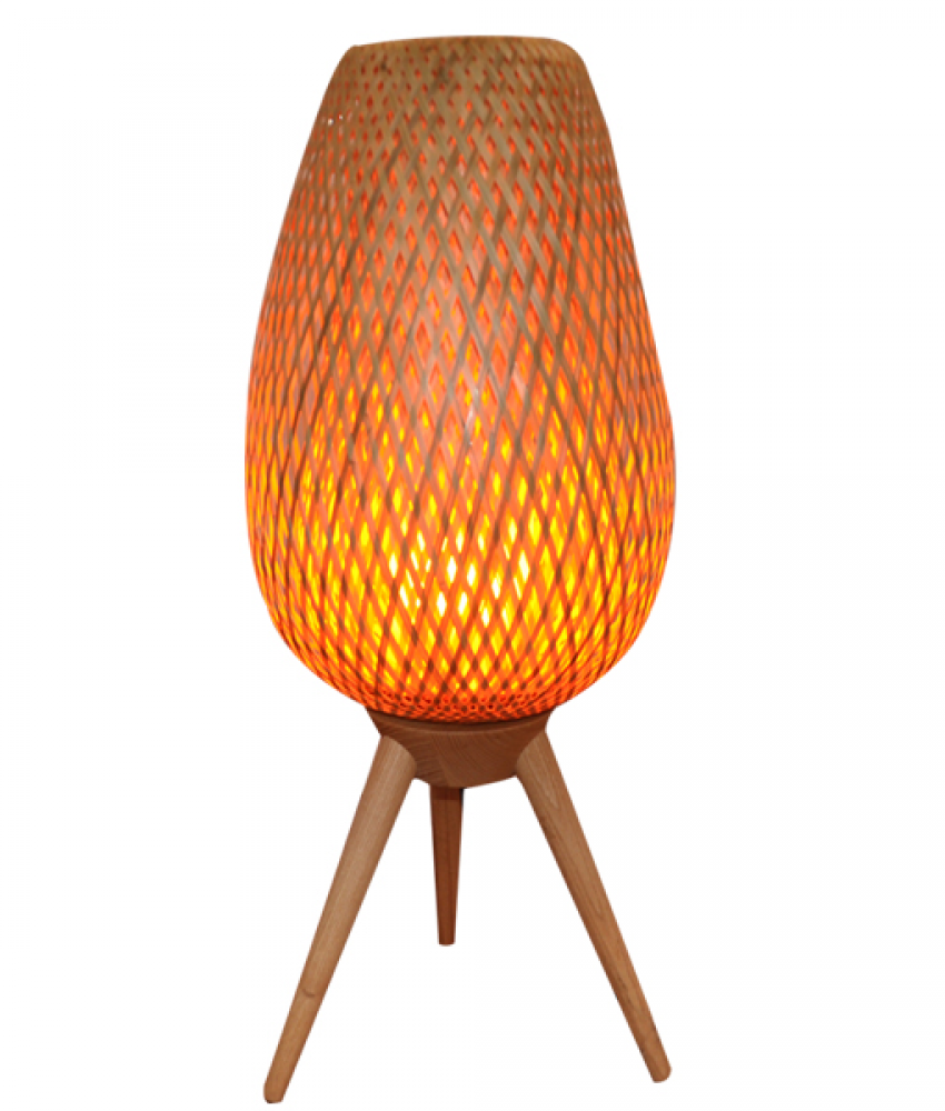 OSIER: Interior Clear Coated Wood Table Lamp