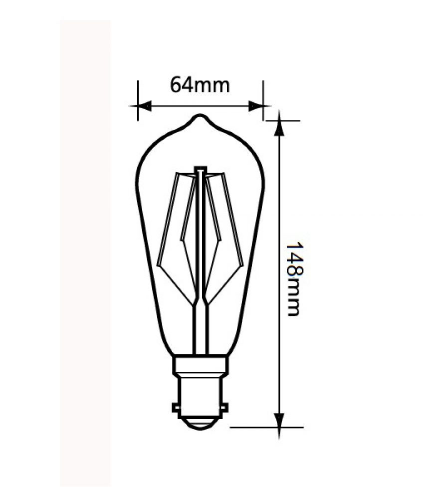 LED Filament Pear Shape BC 2700K Dimmable Lamp - CF26DIM - Pack of 10